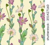 floral vertical stripes.... | Shutterstock .eps vector #351427160