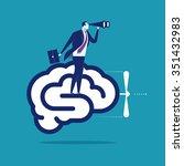 brain powered. business... | Shutterstock .eps vector #351432983