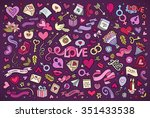 colorful vector hand drawn... | Shutterstock .eps vector #351433538