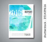 business design cover magazine...   Shutterstock .eps vector #351439616
