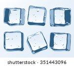 vector ice cubes set   Shutterstock .eps vector #351443096