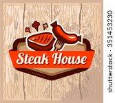 vintage retro logo templat of... | Shutterstock .eps vector #351453230