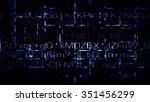 futuristic technology random...   Shutterstock . vector #351456299