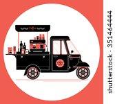 creative detailed vector coffee ... | Shutterstock .eps vector #351464444