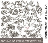 big collection of hand drawn... | Shutterstock .eps vector #351468164