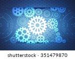 digital abstrct technology...   Shutterstock . vector #351479870