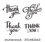 a set of style 'thank you'... | Shutterstock .eps vector #351482663