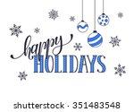 happy holidays postcard... | Shutterstock .eps vector #351483548