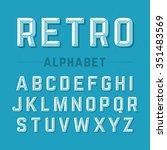 retro style alphabet | Shutterstock .eps vector #351483569