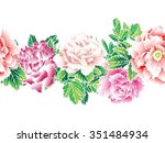 seamless vector background with ... | Shutterstock .eps vector #351484934