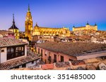 Toledo  Spain. Twilight View Of ...