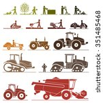 set of different types of... | Shutterstock .eps vector #351485468