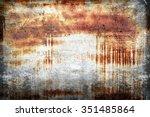 rusted metal texture | Shutterstock . vector #351485864