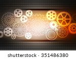 digital abstrct gear background | Shutterstock . vector #351486380