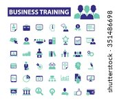 business training  icons  signs ... | Shutterstock .eps vector #351486698