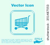 shopping cart icon. vextor... | Shutterstock .eps vector #351487553