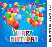 balloons | Shutterstock .eps vector #351487664