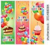 frame happy birthday | Shutterstock .eps vector #351488084