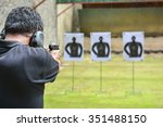 the man shooting with gun | Shutterstock . vector #351488150