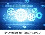 digital abstrct technology...   Shutterstock . vector #351493910