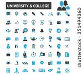 university  education  learning ... | Shutterstock .eps vector #351494360