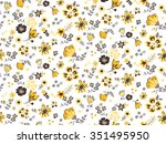 trendy seamless floral pattern... | Shutterstock .eps vector #351495950