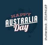 australia day   26 january   ... | Shutterstock .eps vector #351496169