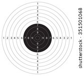 Gun target shooting vector illustration for shooting sport.