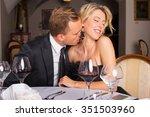 man kissing female neck  | Shutterstock . vector #351503960