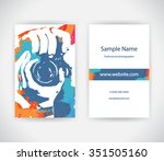 vector business card for... | Shutterstock .eps vector #351505160