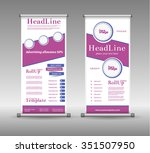 roll up banner abstract... | Shutterstock .eps vector #351507950