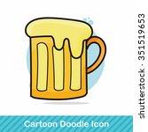 beer doodle | Shutterstock .eps vector #351519653