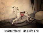 A Vintage Old Rocking Horse In...