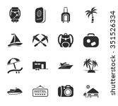 vacation icons set.  | Shutterstock . vector #351526334