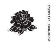 hand drawn wedding rose. flower ... | Shutterstock .eps vector #351526823