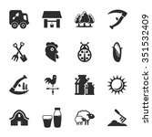 farm icons set.  | Shutterstock . vector #351532409