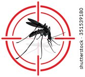 signaling  mosquitoes with... | Shutterstock .eps vector #351539180
