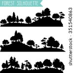 vector horizontal silhouettes... | Shutterstock .eps vector #351540863
