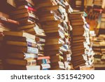 Many Old Books In A Book Shop ...