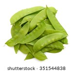 Close Up Of A Pile Of Snow Peas