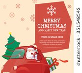 santa claus merry christmas and ... | Shutterstock .eps vector #351548543