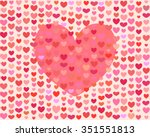 heart background for saint... | Shutterstock .eps vector #351551813