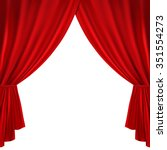 red theater curtain on a white...   Shutterstock .eps vector #351554273