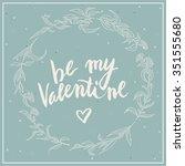 be my valentine vintage... | Shutterstock .eps vector #351555680