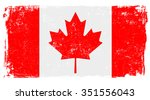 canadian vector flag isolated... | Shutterstock .eps vector #351556043