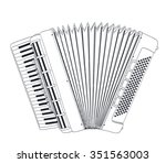 accordion sketch on white.... | Shutterstock .eps vector #351563003