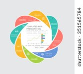 pie chart in 8 steps or... | Shutterstock .eps vector #351565784