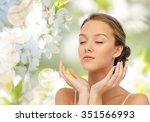 beauty  people  skincare ... | Shutterstock . vector #351566993