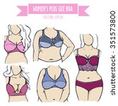different types of bra for...   Shutterstock .eps vector #351573800