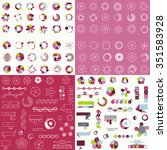 big set of different charts and ... | Shutterstock .eps vector #351583928